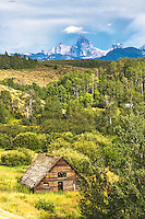 Old Barn, Grand Tetons, Stormy day, Driggs, Idaho