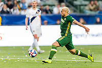 Carson, CA - Sunday March 31, 2019: The Los Angeles Galaxy defeated the Portland Timbers 2-1 in a Major League Soccer (MLS) game at Dignity Health Sports Park.