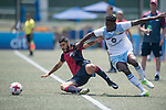 Aston Villa (in white) vs Cagliari Calcio (in red and black) during their Main Tournament Cup Quarter-Final match, part of the HKFC Citi Soccer Sevens 2017 on 28 May 2017 at the Hong Kong Football Club, Hong Kong, China. Photo by Marcio Rodrigo Machado / Power Sport Images