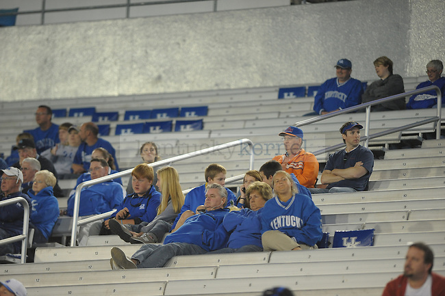 Scarce crowd during the second half of the University of Kentucky football game against Florida at Commonwealth Stadium in Lexington, Ky., on 9/24/11. UK lost the game 10-48. Photo by Mike Weaver | Staff
