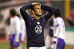 10 February 2006: Taylor Twellman, of the United States, reacts after missing the goal. The United States Men's National Team defeated Japan 3-2 at SBC Park in San Francisco, California in an International Friendly soccer match.