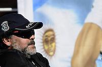 ATENCAO EDITOR: FOTO EMBARGADA PARA VEICULOS INTERNACIONAIS.<br /> BUENOS AIRES, ARGENTINA, 14 SETEMBRO 2012 - COPA DAVIS - ARGENTINA X REPUBLICA TCHECA - O ex jogador de futebol Diego Armando Maradona e visto acompanhando a Copa Davis entre Argentina x Republica Tcheca em Buenos Aires capital da Argentina, nesta sexta-feira, 14. (FOTO: JUANI RONCORONI / BRAZIL PHOTO PRESS).