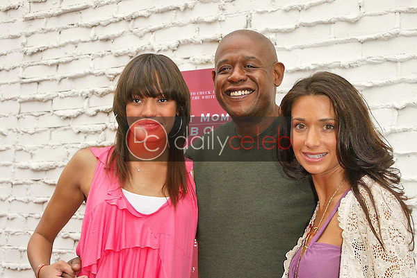 Forest Whitaker with Keisha Whitaker and Jessica Denay<br />the Hot Mom's Club Book Launch Party. NanaÕs Garden, Los Angeles, CA. 04-29-06<br />Jason Kirk/DailyCeleb.com 818-249-4998