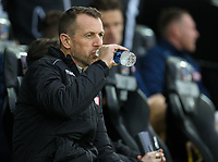 23rd November 2019; Liberty Stadium, Swansea, Glamorgan, Wales; English Football League Championship, Swansea City versus Millwall; Gary Rowett manager of Millwall before kick off - Strictly Editorial Use Only. No use with unauthorized audio, video, data, fixture lists, club/league logos or 'live' services. Online in-match use limited to 120 images, no video emulation. No use in betting, games or single club/league/player publications