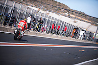 Rider in pit line at pre season winter test IRTA Moto3 & Moto2 at Ricardo Tormo circuit in Valencia (Spain), 11-12-13 February 2014