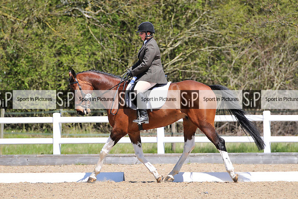 Class 5. Unaffiliated Dressage. Brook Farm Training Centre. Essex. 01/05/2016. MANDATORY Credit Ellen Szalai/Sportinpictures - NO UNAUTHORISED USE - 07837 394578