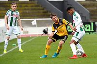 LA LINEA - Voetbal, FC Groningen - Dynamo Dresden, Trainingskamp FC Groningen, seizoen 2017-2018, 13-01-2018,  FC Groningen speler Juninho Bacuna met Abreas Lambertz