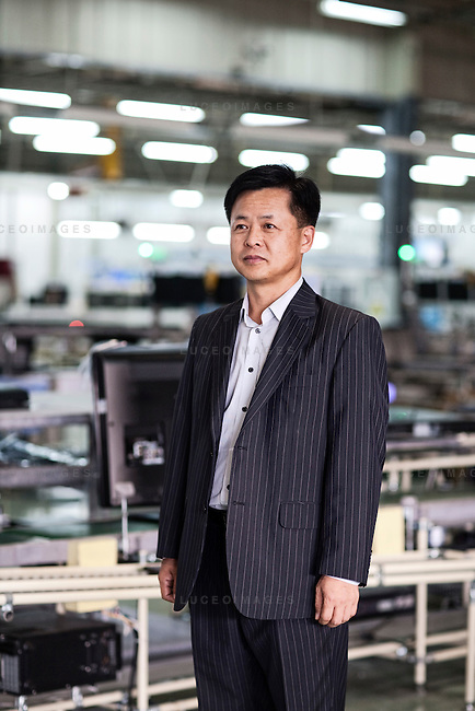 Je Hyoung Park, President of Samsung vina Electronics Co. at Samsung Vina Electronics Co. factory in district Thu Duc in Ho Chi Minh City, Vietnam. Photo taken on Friday, December 4, 2009. Kevin German / Luceo Images