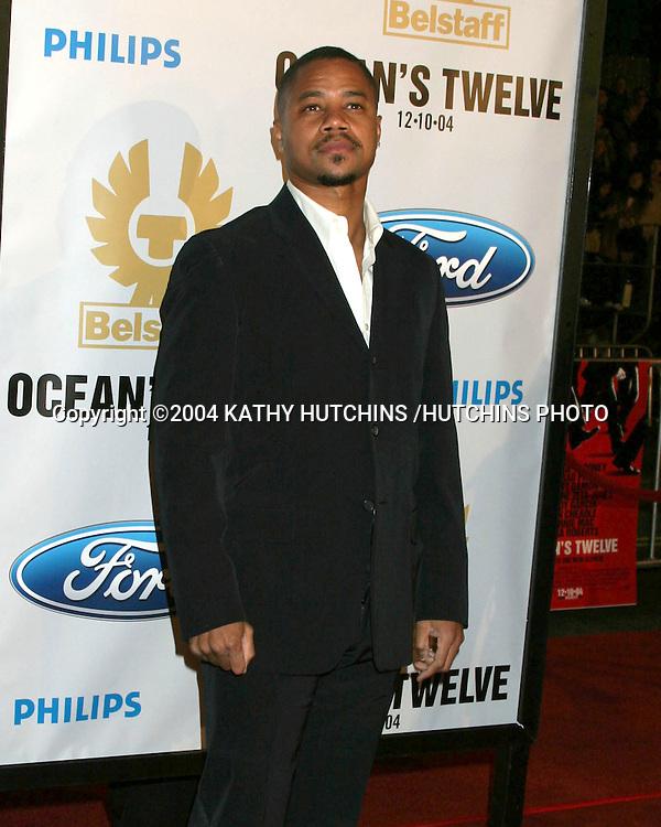 "©2004 KATHY HUTCHINS / HUTCHINS PHOTO.PREMIERE OF ""OCEANS 12"".LOS ANGELES, CA  .DECEMBER 8, 2004..CUBA GOODING JR."