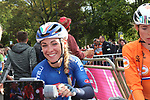 Letizia Paternoster (ITA) at the end of the Women Elite Road Race of the UCI World Championships 2019 running 149.4km from Bradford to Harrogate, England. 28th September 2019.<br /> Picture: Seamus Yore | Cyclefile<br /> <br /> All photos usage must carry mandatory copyright credit (© Cyclefile | Seamus Yore)