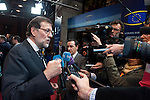 Brussels-Belgium - May 27, 2014 -- European Council, EU-summit, meeting of Heads of State / Government for an informal dinner to evaluate and to conclude the results of the European elections; here, Mariano RAJOY BREY, Prime Minister of Spain, addressing national media  after the dinner, before leaving the venue -- Photo: © HorstWagner.eu