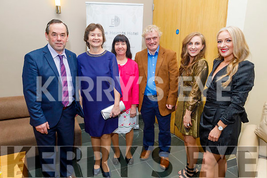 John and Liz O'Keeffe, Eileen B and John Hanlon, Tracy and Bernadette Costello attending the Kerry and Clanmaurice Camogie Awards Night in the Ballyroe Heights Hotel on Sunday.