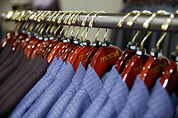 NEW YORK, NY - FEBRUARY 25:  Suits are seen for sell at the Macy's headquarter on February 25, 2019 in Manhattan, New York. Earnings reports of $2.53 is expected for Macy's Inc. with a share on sales of $8.4 billion before the market opens Feb. 26,.  (Photo by Eduardo Munoz Alvarez/VIEWpress)