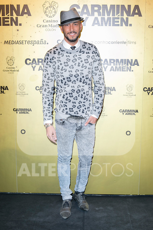 "Spanish singer Yarel  attend the Premiere of the movie ""Carmina y Amen"" at the Callao Cinema in Madrid, Spain. April 28, 2014. (ALTERPHOTOS/Carlos Dafonte)"