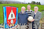 Kilgarvan GAA club chairman Tom Randles centre Jerh Lyne and Tadgh O'Donoghue left who are appealing for the church to sell the field adjacent to their GAA pitch to the club..