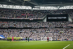 Players and fans observe a minutes silence for the Manchester bombing victims during the Championship Play-Off Final match at Wembley Stadium, London. Picture date: May 29th, 2017. Pic credit should read: David Klein/Sportimage