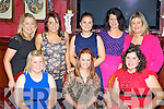 Enjoying a girls night out  in the River Island Hotel, Castleisland on Friday night was front row l-r: Marie Lenihan, Sarah O'Connor, Deirdre Moloney. Back row: Juliet Fleming, Lisa Riordan, Marian Cullinane, Carina O'Sullivan and Joanne Fleming..