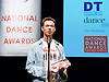 The 15th Critics' Circle National Dance Awards 2014<br />  <br /> The Awards, hosted by Arlene Phillips, were held at The Place on 26 January. <br /> <br /> The Outstanding Company of 2014 was English National Ballet and the award was accepted by the company's artstic director and principal ballerina, Tamara Rojo. <br /> <br /> The De Valois Award for Outstanding Achievement presented by Darcey Bussell was given to Carlos Acosta in recognition of his outstanding career as a dancer and as a producer of new work. <br /> <br /> The Jane Attenborough Dance UK Industry Award was presented to Frank Doran MP, Secretary of the All Party Parliamentary Group for Dance, in recognition of his work for the dance industry. Mr Doran, MP for Aberdeen North, is standing down at the General Election.<br /> <br /> The winners<br /> <br /> Outstanding Male Performance (Modern).<br /> Jonathan Goddard in the title role as Dracula for the Mark Bruce Company.<br />  <br /> Outstanding Female Performance (Classical).<br /> Natalia Osipova in the title role in Giselle for The Royal Ballet.<br />  <br /> Best Modern Choreography.<br /> Akram Khan for Dust by English National Ballet.<br />  <br /> Outstanding Male Performance (Classical).<br /> Xander Parish in the title role in Apollo for the Mariinsky Ballet.<br />  <br />  <br />  <br /> WinnersThe winners with Dance section chair Graham Watts on the right. &copy;  John Ross<br />  <br /> Outstanding Female Performance (Modern).<br /> Wendy Houstoun for Pact with Pointlessness.<br />  <br /> Grishko Award for Emerging Artist.<br /> Francesca Hayward.<br />  <br /> Best Independent Company.<br /> Mark Bruce Company.<br />  <br /> Jane Attenborough Dance UK Industry Award.<br /> Frank Doran MP<br />  <br /> Stef Stefanou Award for Outstanding Company.<br /> English National Ballet.<br />  <br /> Best Classical Choreography<br /> Christopher Wheeldon for The Winter's Tale for the Royal Ballet.<br />  <br /> The Dancing Times Award for Best Ma