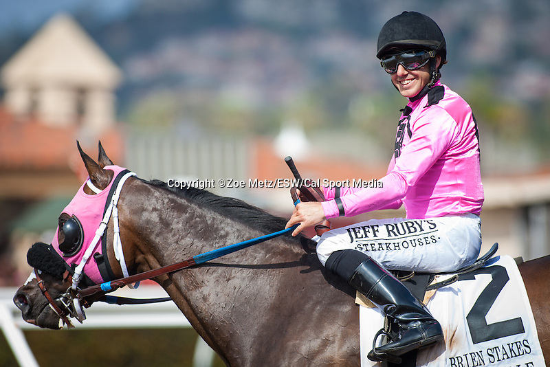 August 22 2015:  Appealing Tale with Joe Talamo up wins the Grade II Pat O'Brien Stakes at Del Mar Race Course in Del Mar CA. Zoe Metz/ESW/CSM