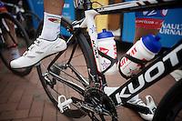 Bjorn Leukemans' (BEL/Wanty-Groupe Gobert) shoes<br /> <br /> stage 3<br /> Euro Metropole Tour 2014 (former Franco-Belge)