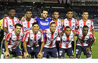 BARRANQUILLA  -COLOMBIA, 14-09-2016. Formación  del Junior de Colombia contra el Blooming de Boliva   durante encuentro  por la fase 2 llave 6 de la Copa Sudamericana disputado en el estadio Metroplitano Roberto Meléndez ./ Team  of Junior of Colombia   against  Blooming  of Bolivia   during match for the date 2 of Sudamericana Cup   played at Metroplitano Roberto Melendez stadium . Photo:VizzorImage / Alfonso Cervantes  / Contribuidor