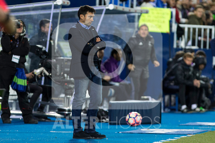 Asier Garitano of Club Deportivo Leganes during the match of  La Liga between Club Deportivo Leganes and Real Madrid at Butarque Stadium  in Leganes, Spain. April 05, 2017. (ALTERPHOTOS / Rodrigo Jimenez)