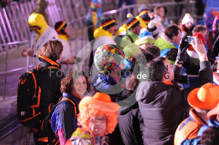 OLYMPICS: SOCHI: Medal Plaza, 19-02-2014, Men 10.000m, Edith Schippers (Minister van Volksgezondheid, Welzijn en Sport), ©photo Martin de Jong