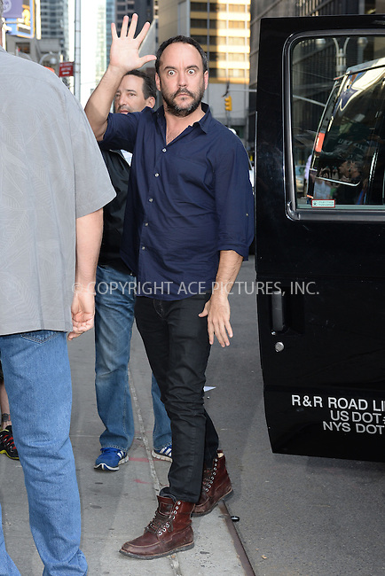 WWW.ACEPIXS.COM <br /> May 7, 2015 New York City<br /> <br /> Dave Matthews arrives to tape an appearance on the Late Show with David Letterman on May 7, 2015 in New York City.<br /> <br /> Please byline: Kristin Callahan/ACE Pictures  <br /> <br /> ACEPIXS.COM<br /> Ace Pictures, Inc<br /> tel: 646 769 0430<br /> e-mail: info@acepixs.com<br /> web: http://www.acepixs.com