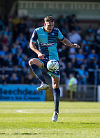 Will De Havilland of Wycombe Wanderers during the Sky Bet League 2 match between Wycombe Wanderers and Cheltenham Town at Adams Park, High Wycombe, England on the 8th April 2017. Photo by Liam McAvoy.