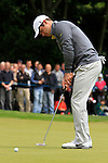 Paul Casey (ENG) takes his putt on the 1st green during the Final Day of the BMW PGA Championship Championship at, Wentworth Club, Surrey, England, 29th May 2011. (Photo Eoin Clarke/Golffile 2011)