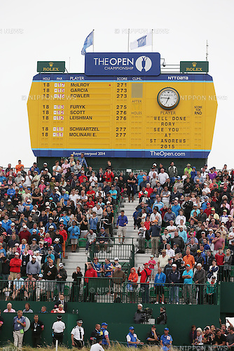 Leader board, JULY 20, 2014 - Golf : Final round of the 143rd British Open Championship at Royal Liverpool Golf Club in Hoylake, England. (Photo by Koji Aoki/AFLO SPORT) [0008]