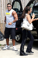 Ronnie and Sammi pictured at the car during filming on The Jersey Shore Show season six in Seaside Heights, New Jersey on July 5, 2012  &copy; Star Shooter / MediaPunchInc *NORTEPHOTO.COM*<br />