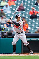 Ryan Farney #9 of the Sam Houston State Bearkats at bat against the Texas Christian Horned Frogs at Minute Maid Park on February 28, 2014 in Houston, Texas.  The Bearkats defeated the Horned Frogs 9-4.  (Brian Westerholt/Four Seam Images)
