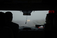 Fog just outside Istanbul, early in the morning.