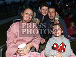 Robbie, Nicola, Kylah and Mason Ormsby at the East Meath United outdoor Cinema night. Photo:Colin Bell/pressphotos.ie