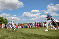 Matt Fitzpatrick (ENG) and Rory McIlroy (NIR) head down 7 during round 4 of the Arnold Palmer Invitational at Bay Hill Golf Club, Bay Hill, Florida. 3/10/2019.<br /> Picture: Golffile | Ken Murray<br /> <br /> <br /> All photo usage must carry mandatory copyright credit (© Golffile | Ken Murray)