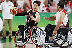 Akira Toyoshima (JPN),<br /> SEPTEMBER 15, 2016 - Wheelchair Basketball : <br /> 9th place match between Japan 65-52 Iran<br /> at Rio Olympic Arena<br /> during the Rio 2016 Paralympic Games in Rio de Janeiro, Brazil.<br /> (Photo by Shingo Ito/AFLO)