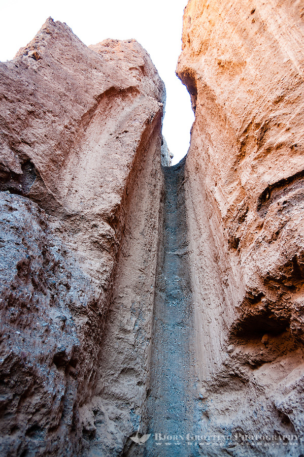 United States, California, Death Valley. Natural Bridge Canyon, erosion.
