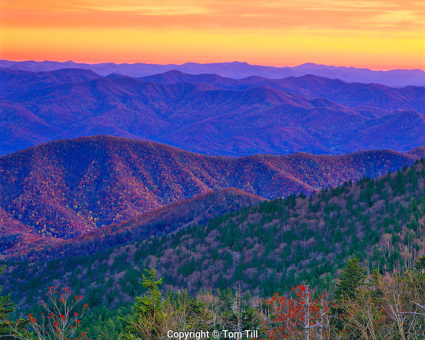 View from Clingmans Dome, Great Smoky Mountains National Park, Applalachins Trail, Tennessee & North Carolina