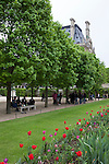 Tuileries Gardens (Jardin des Tuileries) in spring, Paris, France, Europe