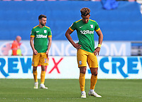 Preston North End's Callum Robinson can't hide his dejection as his side go 2-0 behind<br /> <br /> Photographer David Shipman/CameraSport<br /> <br /> The EFL Sky Bet Championship - Wigan Athletic v Preston North End - Monday 22nd April 2019 - DW Stadium - Wigan<br /> <br /> World Copyright © 2019 CameraSport. All rights reserved. 43 Linden Ave. Countesthorpe. Leicester. England. LE8 5PG - Tel: +44 (0) 116 277 4147 - admin@camerasport.com - www.camerasport.com