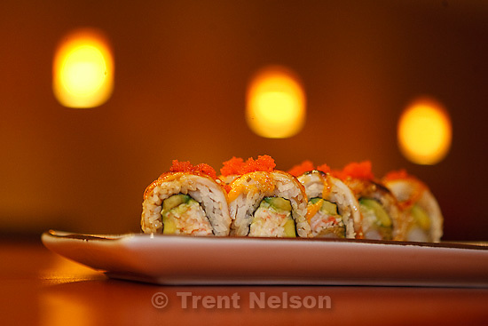 Trent Nelson  |  The Salt Lake Tribune.The Baked Halibut Roll at Hi Sushi, Friday, March 11, 2011 in Salt Lake City, Utah.