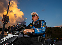 Jun 16, 2017; Bristol, TN, USA; NHRA funny car driver John Force during qualifying for the Thunder Valley Nationals at Bristol Dragway. Mandatory Credit: Mark J. Rebilas-USA TODAY Sports