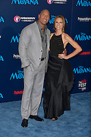 "HOLLYWOOD, CA - NOVEMBER 14: Dwayne Johnson and Lauren Hashian attend the AFI FEST 2016 Presented By Audi - Premiere Of Disney's ""Moana"" at the El Capitan Theatre in Hollywood, California on November 14, 2016. Credit: Koi Sojer/Snap'N U Photos/MediaPunch"