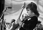 "Jeff Beck, June 5, 1976, Day on the Green, English rock guitarist. He was one of the three noted guitarists which include Eric Clapton and Jimmy Page, to have played with The Yardbirds. He was ranked 14th in Rolling Stone Magazine's list of the ""100 Greatest Guitarists of All Time""."