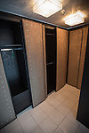 © Joel Goodman - 07973 332324 . 24 June 2013 . Orchid Suite , Beetham Tower , Manchester , UK . Wardrobes . Former triplex apartment home of Phil and Julie Neville , which is up for rent and thought to be the most expensive in Manchester . Photo credit : Joel Goodman