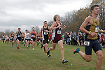EVANSVILLE, IN - NOVEMBER 18: Runners compete in the men's 10k run during the Division II Men's Cross Country Championship held at the Angel Mounds on November 18, 2017 in Evansville, Indiana. (Photo by Tim Broekema/NCAA Photos/NCAA Photos via Getty Images)