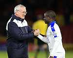 Leicester City's Claudio Ranieri celebrates at the final whistle with N&rsquo;Golo Kante<br /> <br /> - English Premier League - Watford vs Leicester City  - Vicarage Road - London - England - 5th March 2016 - Pic David Klein/Sportimage