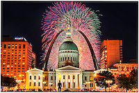 4th of July fireworks in St. Louis