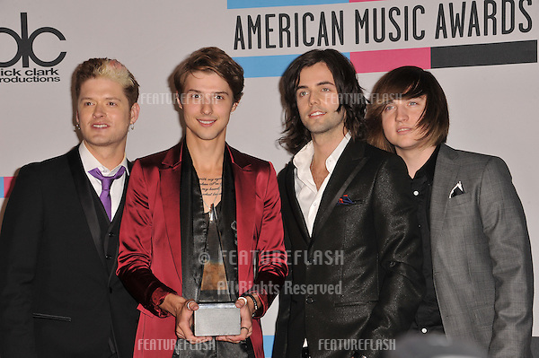 Hot Chelle Rae at the 2011 American Music Awards at the Nokia Theatre L.A. Live in downtown Los Angeles..November 20, 2011  Los Angeles, CA.Picture: Paul Smith / Featureflash